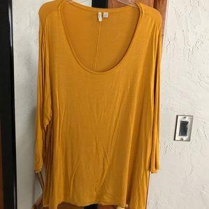 Mustard long sleeve shirt